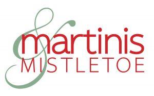 martinis and mistletoe logo