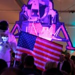 Astronaut and spaceship decor at KET's 2019 Summer Celebration