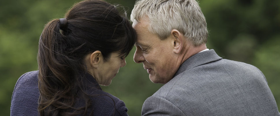 Doc Martin and Louisa sharing a moment