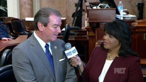 Renee Shaw with House Speaker David Osborne