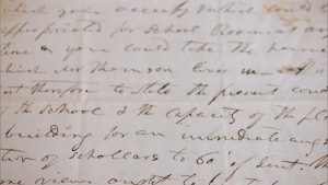 A letter written by Julia Chinn, common law wife of Vice President Richard Mentor Johnson.