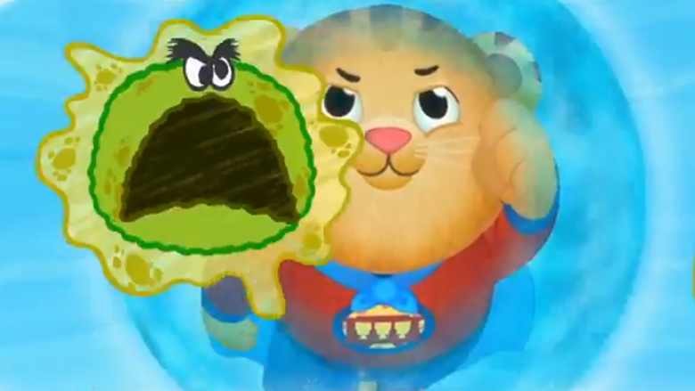 Daniel Tiger Superhero Germ Fighter