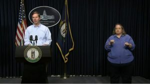 Governor Andy Beshear delivers an update on covid-19 in Kentucky