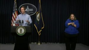 Gov. Andy Beshear delivers an update on the coronavirus in Kentucky