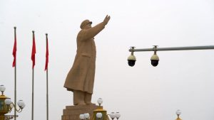 Statue of Mao Zedong in The People's Park in the xinjiang region