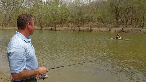 Kentucky Afield host Chad Miles fishing