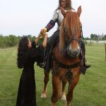Person on horse at 2010 event