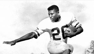 Football player in 1960s