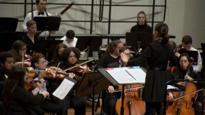 Conductor Amy Gillingham and the Northern Kentucky University Orchestra
