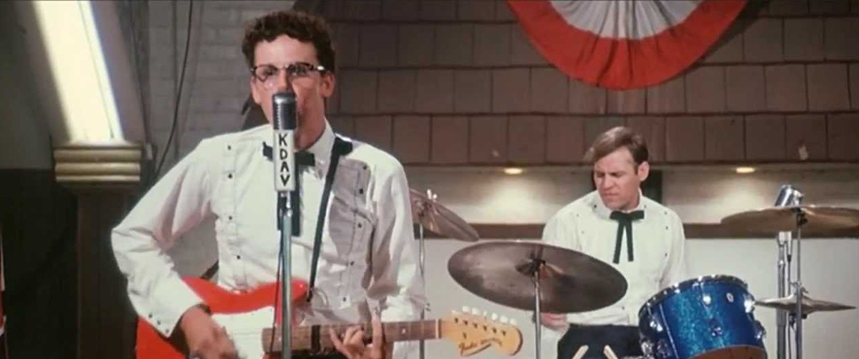 Gary Busey as Buddy Holly in The Buddy Holly Story