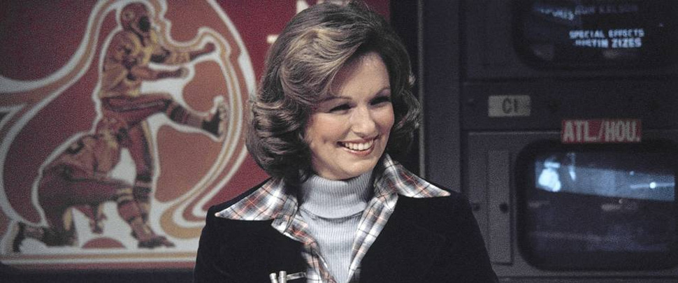 Phyllis George on-air during sportscast