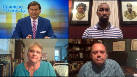 Bill Bryant discusses the week's news with journalists via video call.