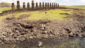 Stone statues on Rapa Nui (Easter Island)