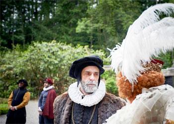 Actors in a scene from Queen Elizabeth's Secret Agents