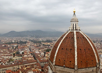View of the Duomo of Florence over the city