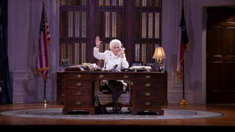 """Holland Taylor playing Gov. Ann Richards on stage in a production of """"Ann"""""""