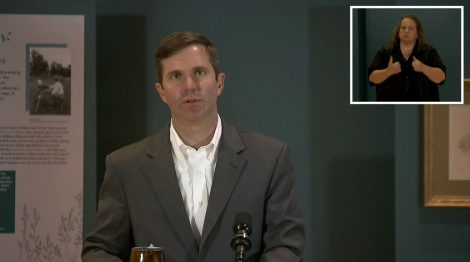 Gov. Andy Beshear delivers an update on covid-19 in Kentucky