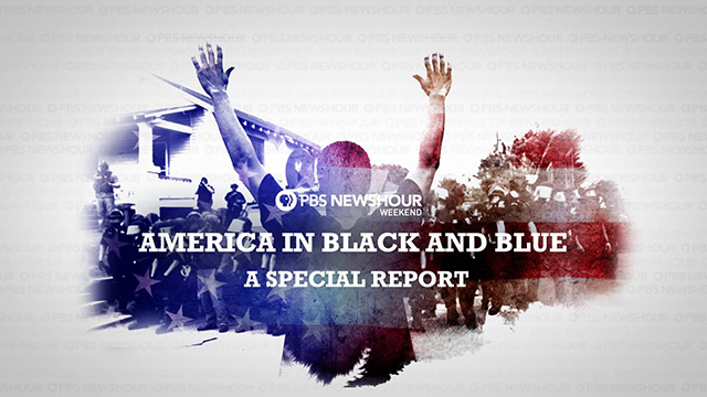 America in Black and Blue graphic