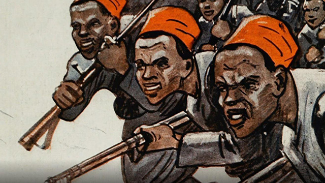 Artwork showing black americans during the civil war