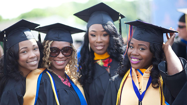 Group of African American graduates