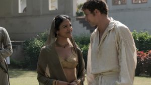 Shown from left to right: Shriya Pilgaonkar as Chanchal and Leo Suter as Daniel Beecham