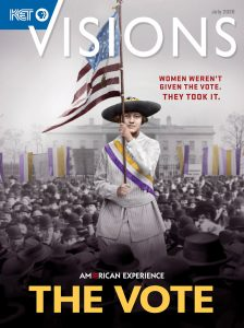 Suffragists on the cover of the July 2020 issue of KET Visions