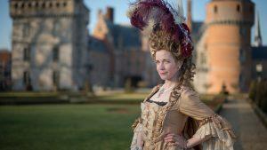 Lucy Worsley dressed as Marie Antoinette.