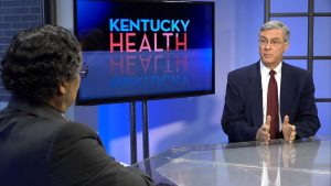 Dr. Wayne Tuckson speaks with endocrinologist Dr. Fred Williams.