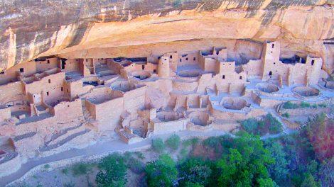 Mesa Verde cliff dwellings in Colorado