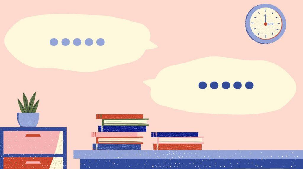 Illustration depicting conversation