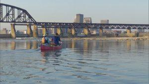 Fishing on the Ohio River near Louisville