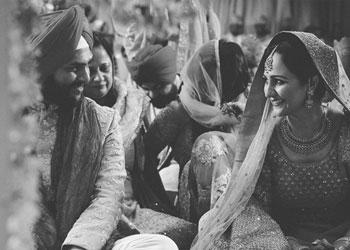 Black and white photo from a Phadke family wedding