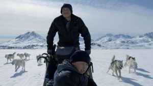 Two men on a dogsled