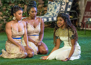 Tiffany Denise Hobbs, Tayler Harris and Margaret Odette in MUCH ADO ABOUT NOTHING.