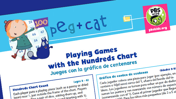 Peg Cat Hundreds chart