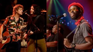 Members of The Raconteurs and Black Puma performing on stage at Austin City Limits
