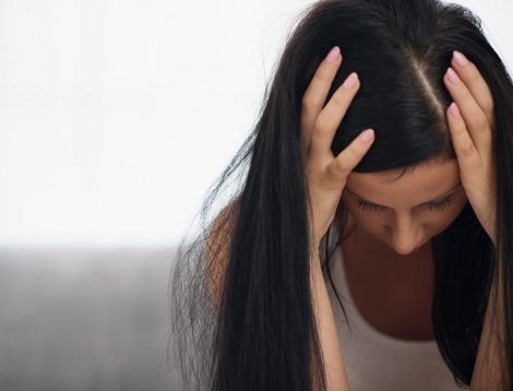 A young woman struggles with depression.