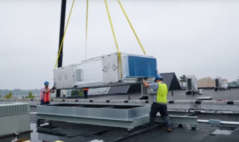 Transporting an air filtration system.