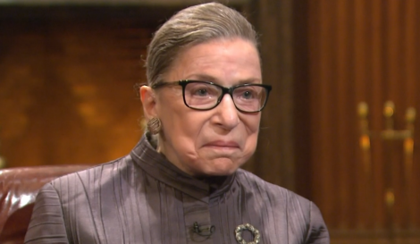 The late U.S. Supreme Court Justice Ruth Bader Ginsburg.