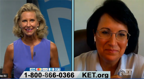 Michele Ripley interviews Lora Suttles of the Friends of KET Board during Summer Pledge 2020.
