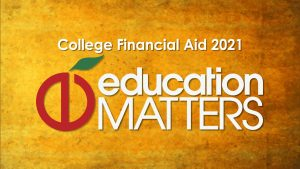Logo for Education Matters' College Financial Aid 2021 show.