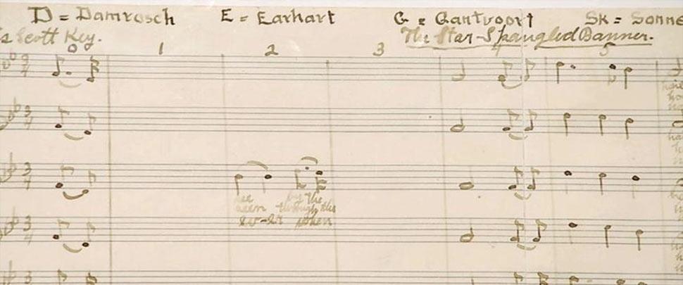 Star Spangled Banner handwritten sheet music