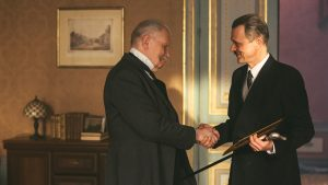 Drama Reconstruction L-R Paul Von Hindenburg shakes hands with Franz Von Papen