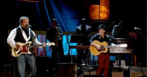 The Mavericks performing on stage at Austin City Limits