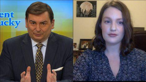 Bill Bryant and reporter Julia Fair.