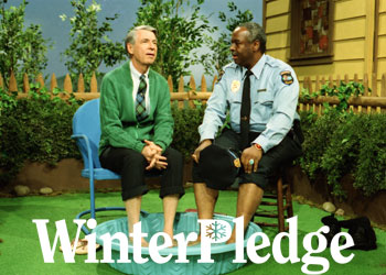 """Fred Rogers with Francois Scarborough Clemmons from Rogers' show, """"Mister Rogers' Neighborhood,"""" in the film WON'T YOU BE MY NEIGHBOR?, a Focus Features release."""