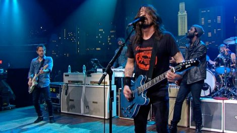 Foo Fighters peforming on stage at Austin City Limits