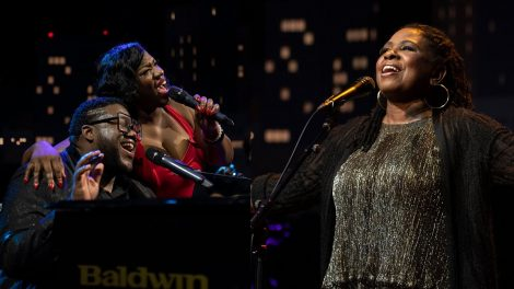 Images of The War and Treaty and Ruthie Foster performing on stage at Austin City Limits