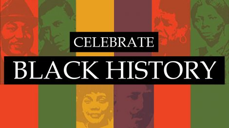 Celebrate Black History collage of famous African Americans