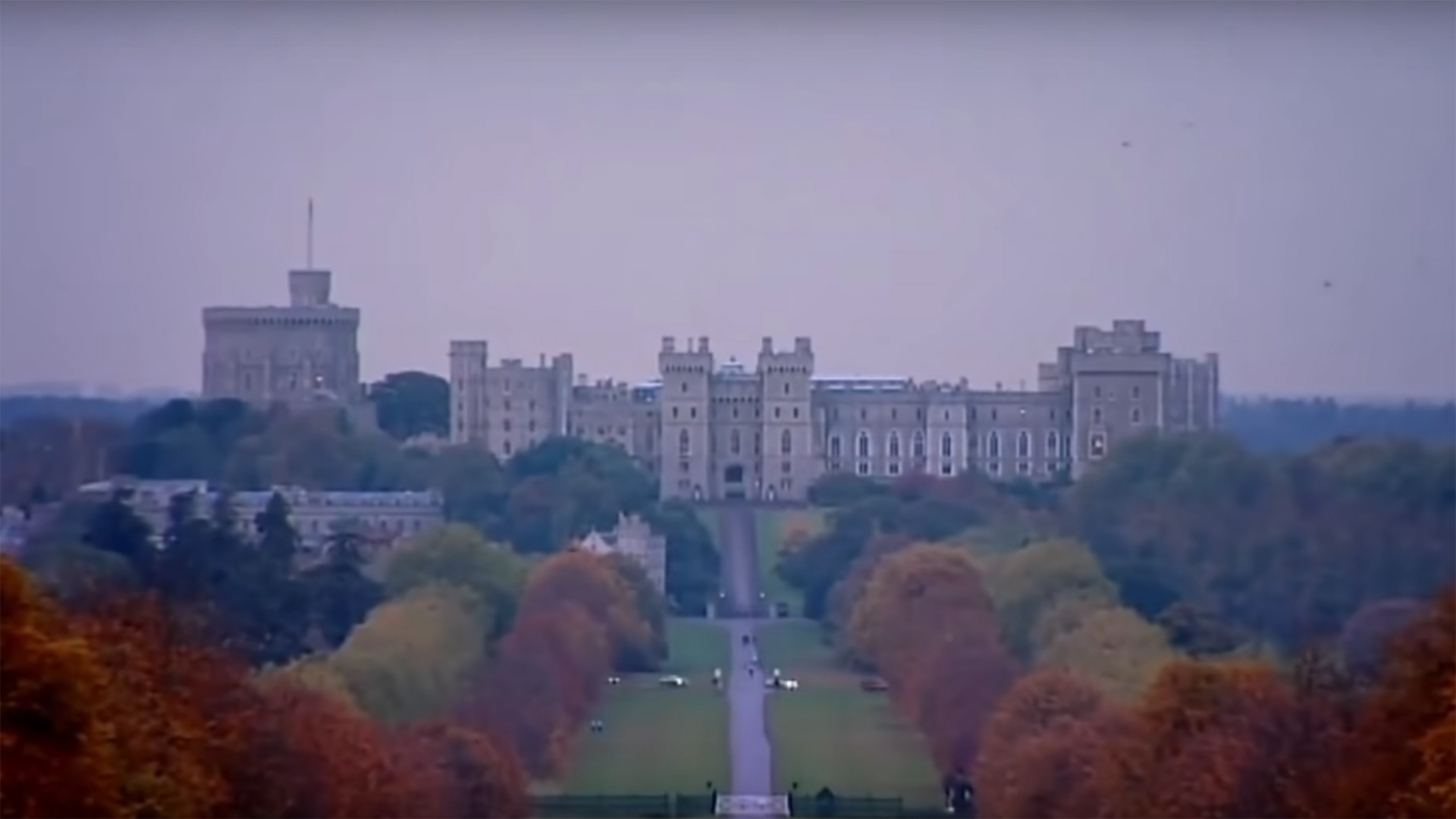 A view of Windsor Castle in Autumn